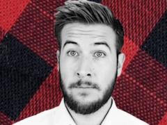 Ryan Georges billede af sig selv der bruges på hans personlige kanal, Ryan George